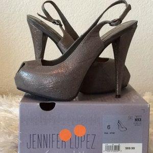 Jennifer Lopez Shiny/Glitter Heels